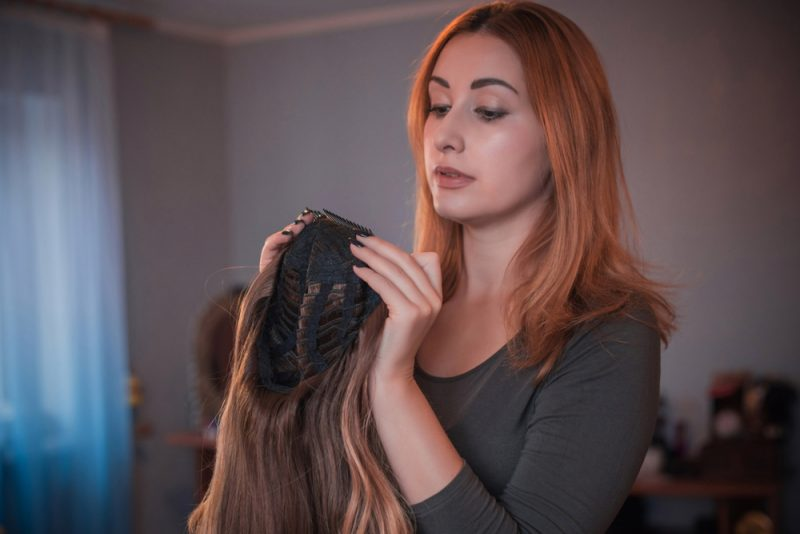 Woman with Wig Piece
