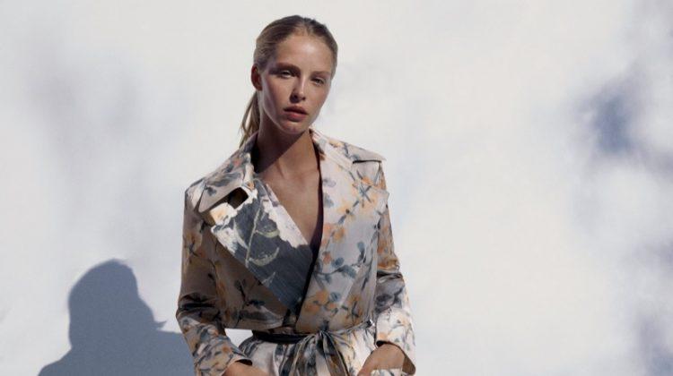 Zara limited edition flowy printed coat.