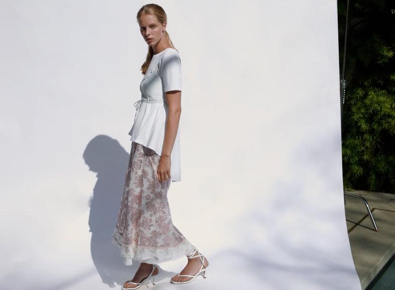 Model Abby Champion wears Zara's summer 2020 arrivals.
