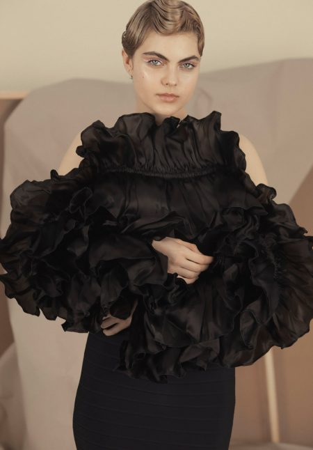 Alisa Rajewskaja Models Avant Garde Looks in Marie Claire Ukraine
