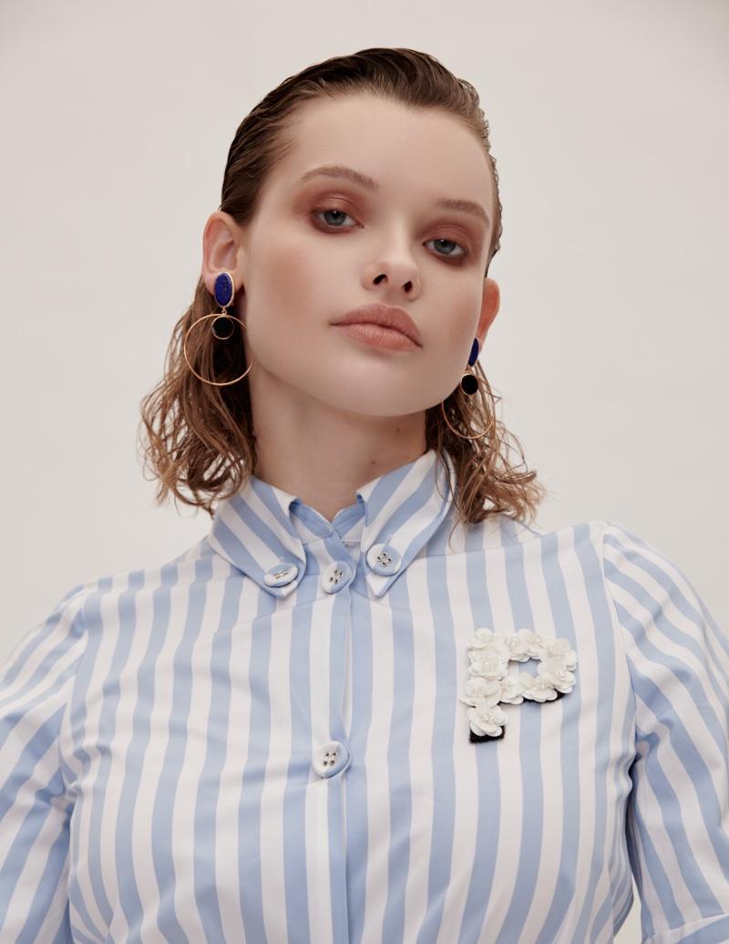 Anastasia Sopova Poses in Retro Styles for Glamour Hungary