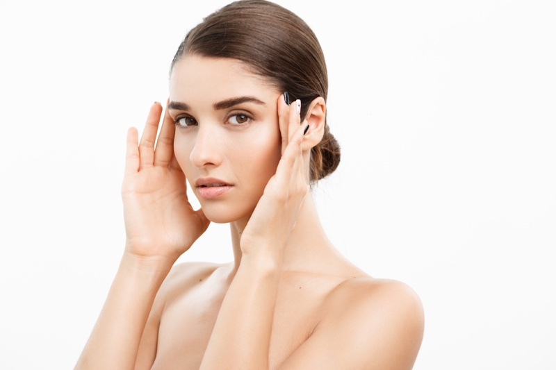 Attractive Woman Skin Problems Worrying