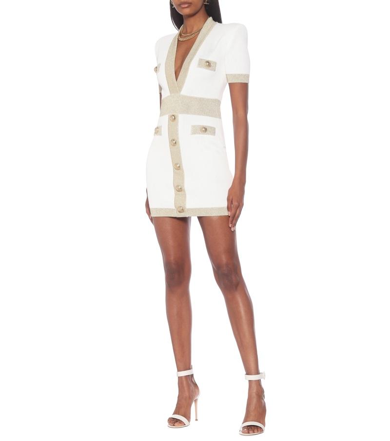 Balmain x MyTheresa Knit Bodycon Minidress $2,295