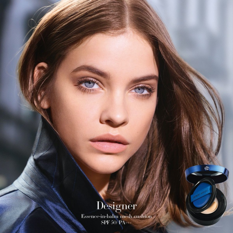 Barbara Palvin fronts Armani Beauty Designer Essence-in-balm Mesh Cushion campaign.