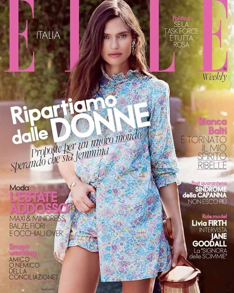 Bianca Balti on ELLE Italy June 2020 Cover