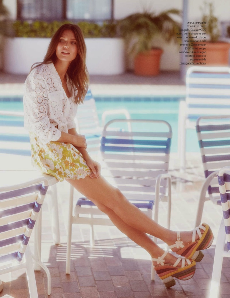 Bianca Balti Poses In Sunny California Styles for ELLE Italy
