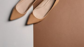 Brown Flats Shoes Background