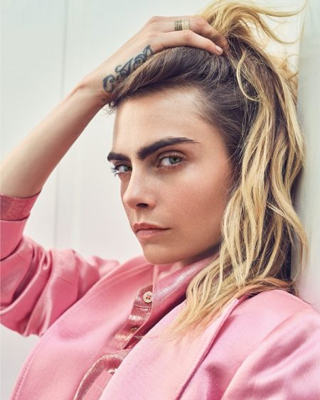 Cara Delevingne Models Laid-Back Style for Variety