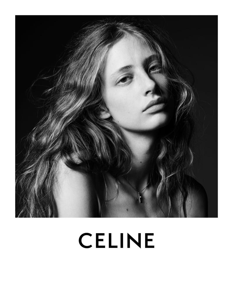 Model Anna Francesca gets her closeup in Celine fall-winter 2020 campaign.