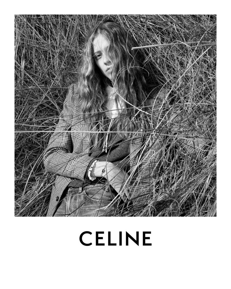 Hedi Slimane photographs Celine fall-winter 2020 campaign.