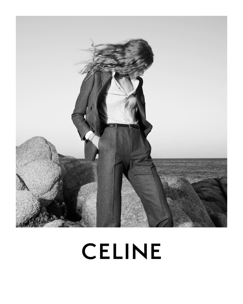 An image from Celine's fall-winter 2020 advertising campaign shot in Saint-Tropez.