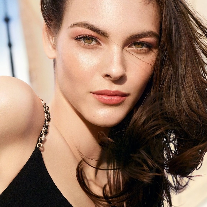Vittoria Ceretti stars in Chanel Les Beiges Summer of Glow 2020 campaign.