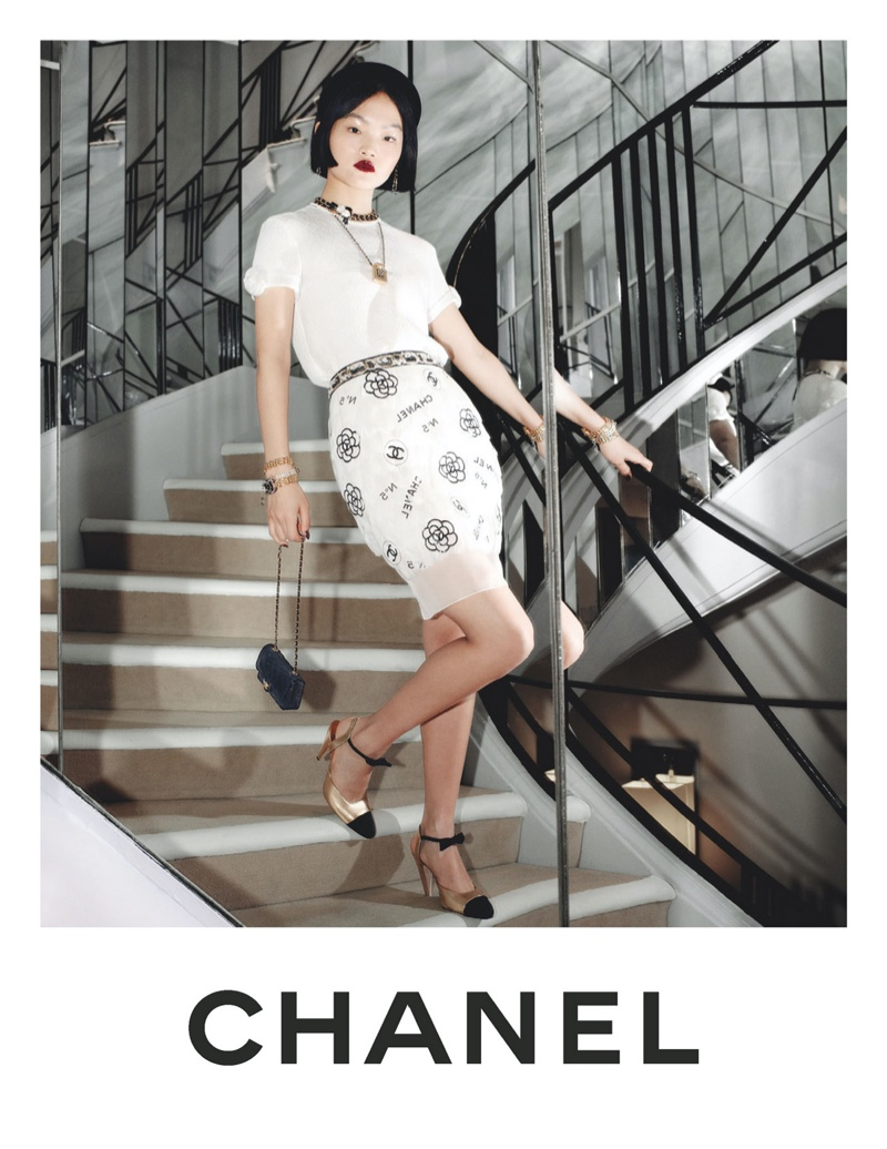 Pao Haowen fronts Chanel pre-fall 2020 campaign.