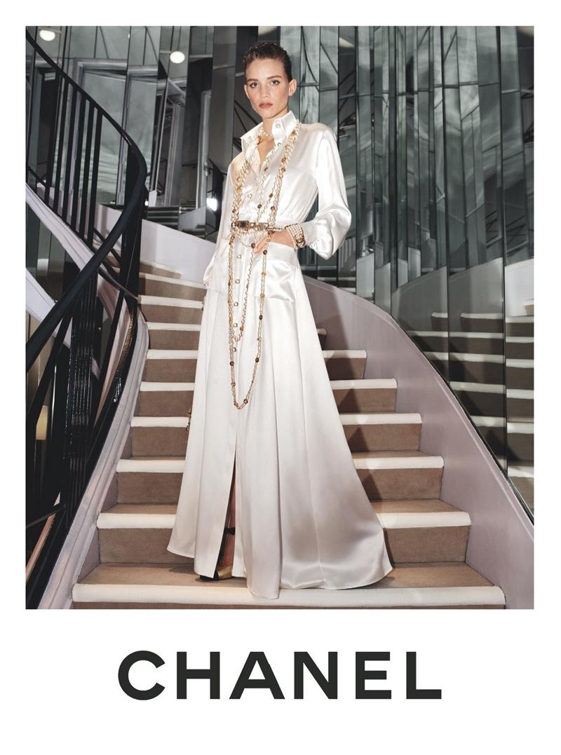 Rebecca Leigh Longendyke stars in Chanel pre-fall 2020 campaign.