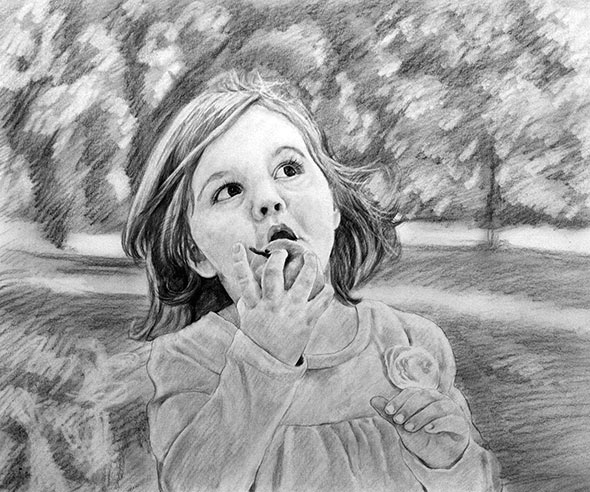 Child Charcoal Drawing
