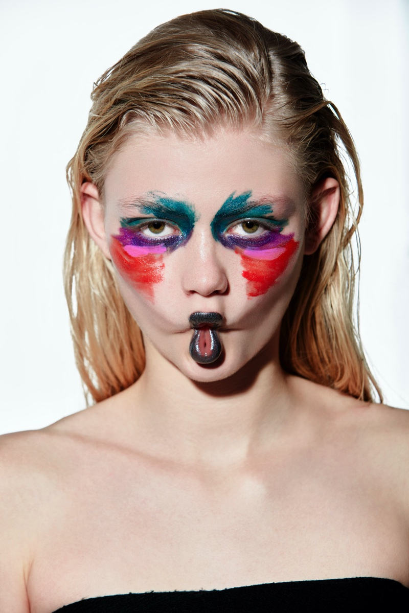 Clara Overgaard Wears Whimsical Makeup for L'Officiel Vietnam