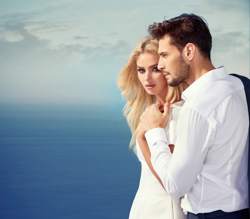 Couple White Dress Shirt Glamorous