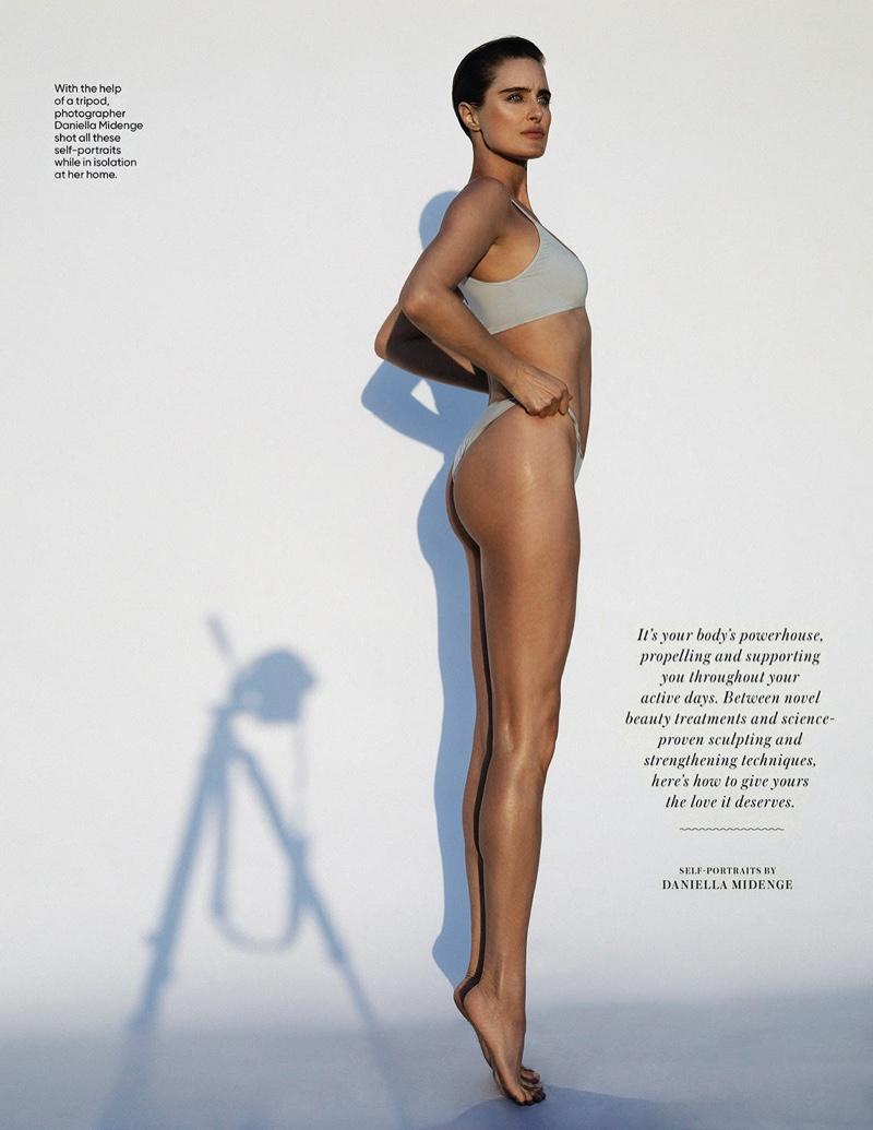 Daniella Midenge Takes At Home Self-Portraits for Shape Magazine