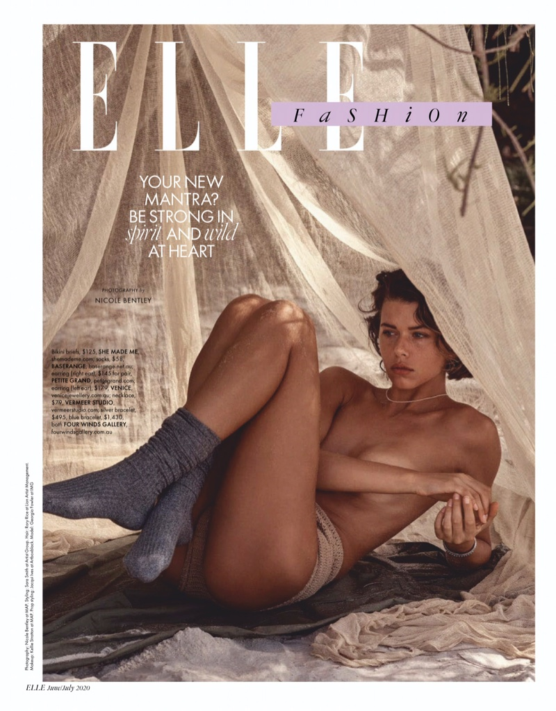 Georgia Fowler Models Casual Beach Styles in ELLE Australia