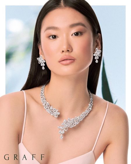 Xiaoni Wang stars in Graff Diamonds spring 2020 collection.