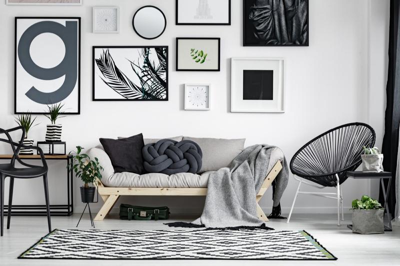 Grey Living Room Frames Coach Chair