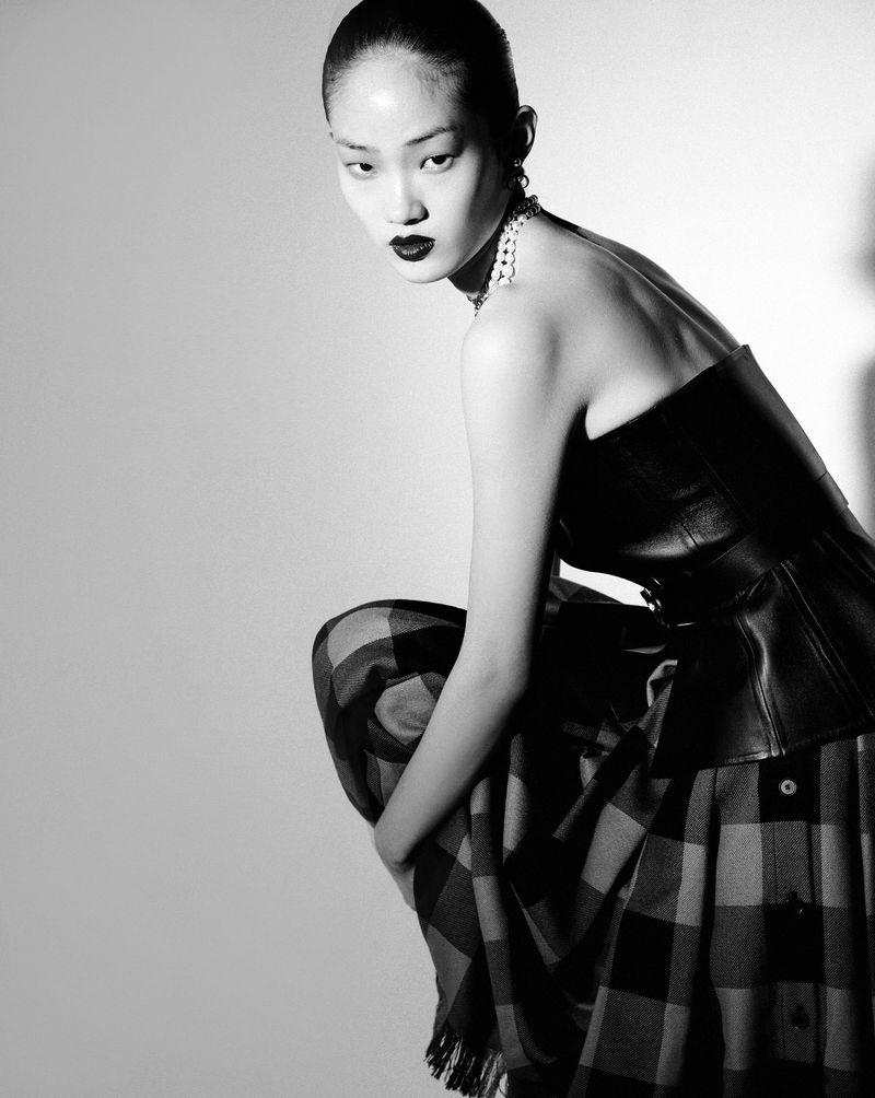 Hyun Ji Shin Models Dior Pre-Fall Styles for Vogue Korea