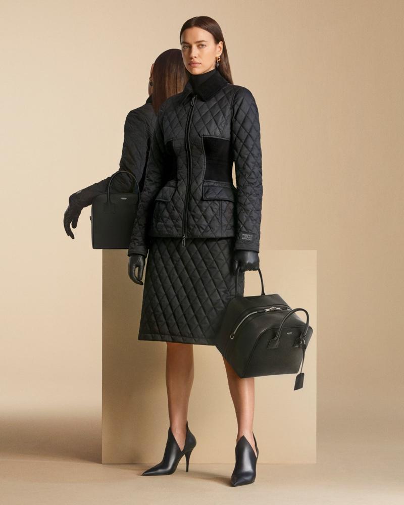 Irina Shayk wears sleek styles in Burberry pre-fall 2020 campaign.