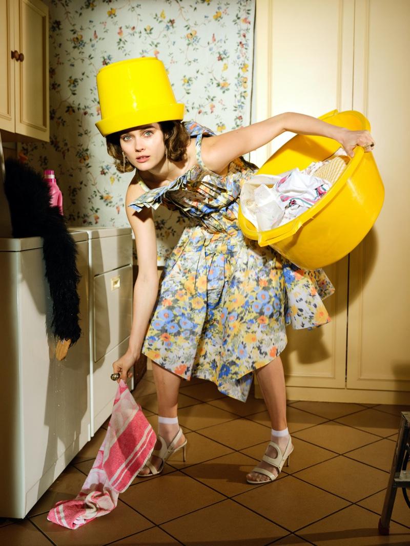 Jac Jagaciak is a Fashionable Housewife for Vogue Poland