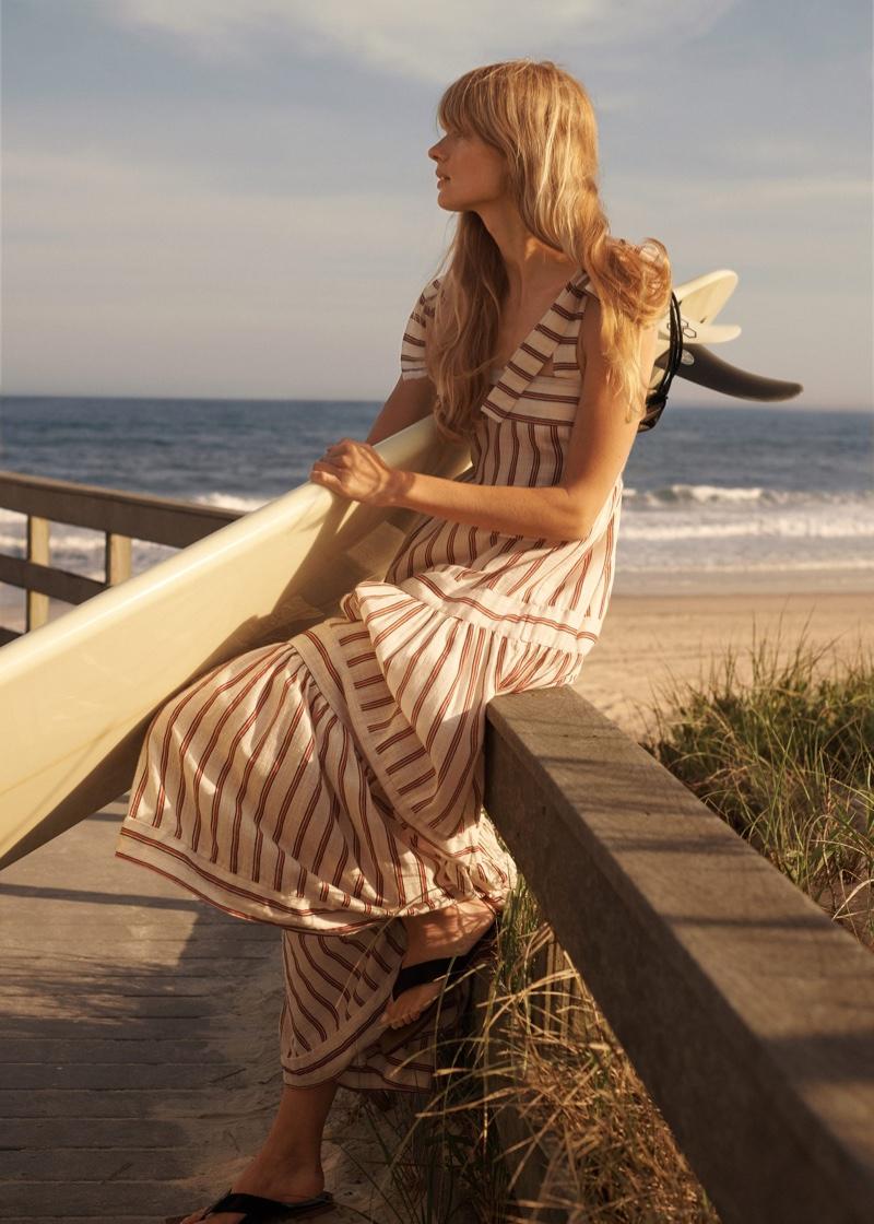 Mango Striped Long Dress.
