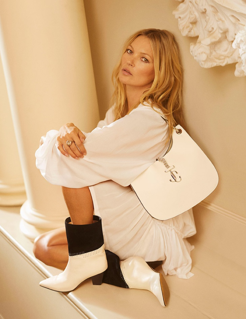 Kate Moss fronts Jimmy Choo pre-fall 2020 campaign.