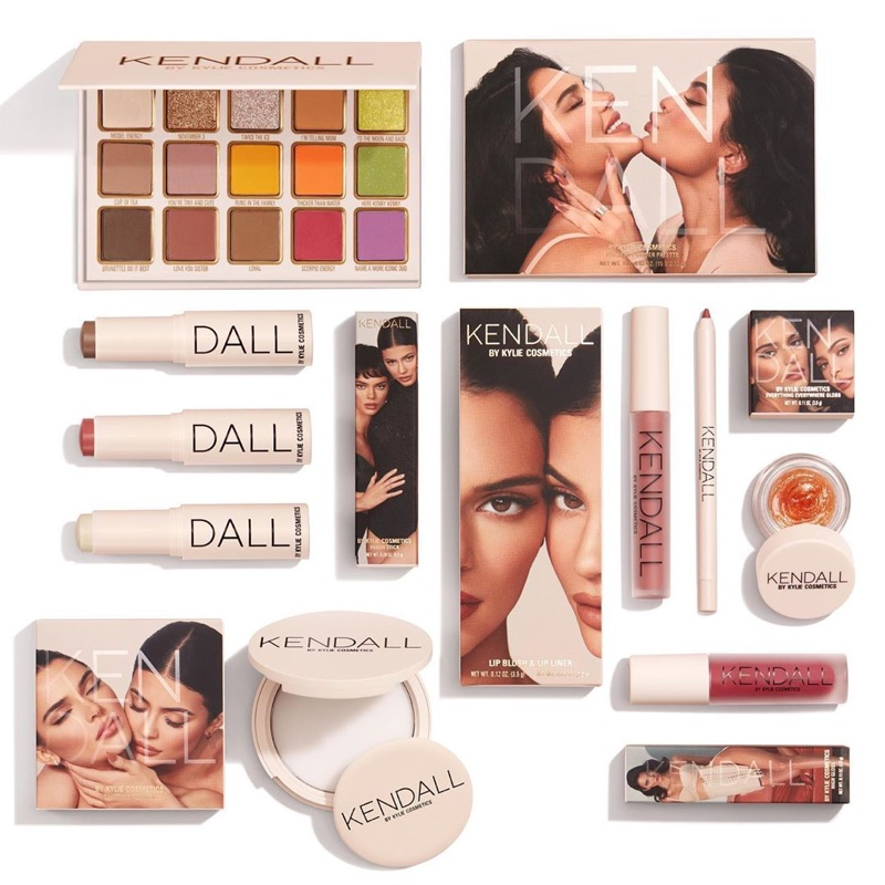 Products from the Kendall x Kylie Kylie Cosmetics collection.
