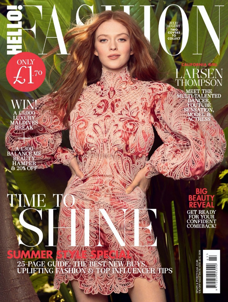 Larsen Thompson Poses in Statement Shapes for Hello! Fashion