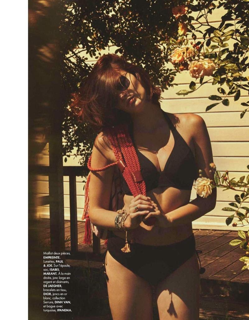Lena Simonne Is Ready for Swimwear Season in ELLE France