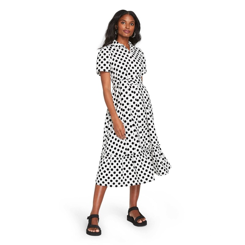 Lisa Marie Fernandez for Target Polka Dot Puff Sleeve Shirtdress $55