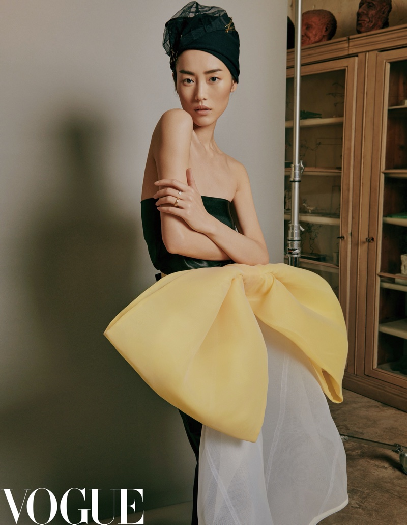 Liu Wen Embraces Bold Silhouettes for Vogue China
