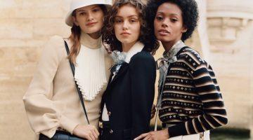 Signe Veiteberg, Caroline Reuter and Blesnya Minher star in Louis Vuitton LV Pont 9 handbag campaign.