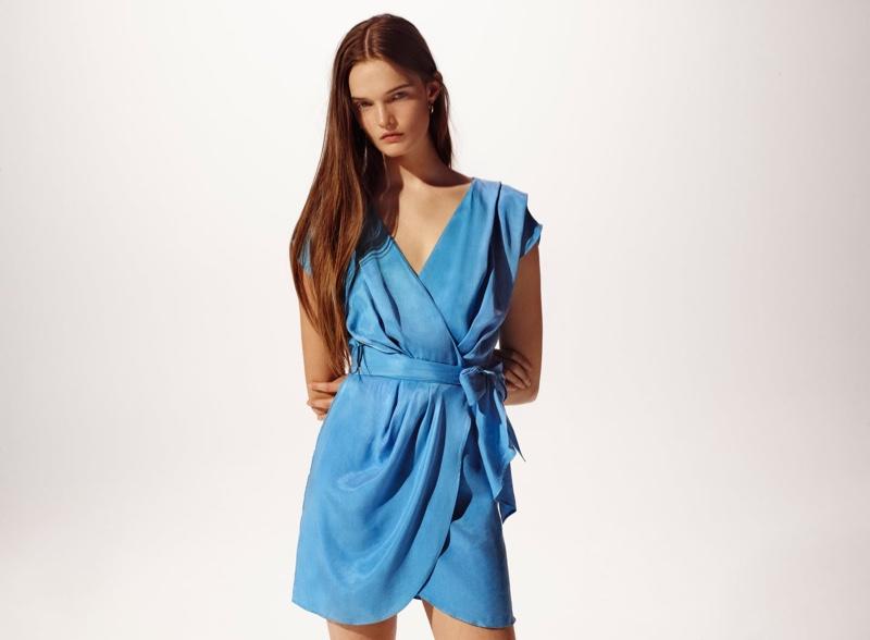 Zara Flowy Tied Dress.