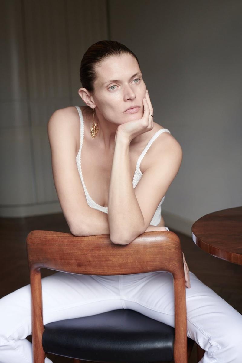 Malgosia Bela tries on Zara's summer denim styles.
