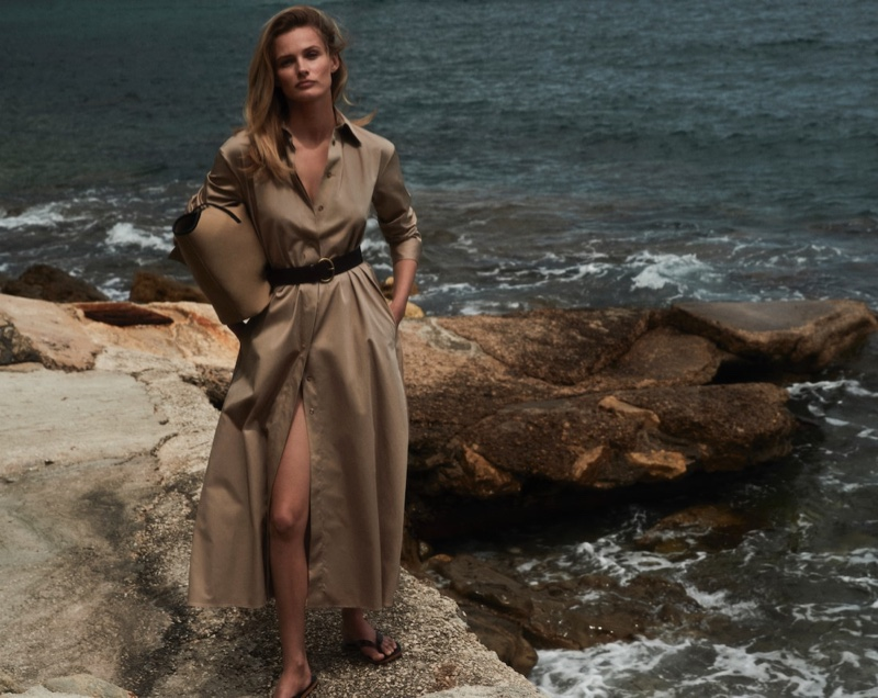 Edita Vilkeviciute fronts Massimo Dutti New Power In summer 2020 lookbook.