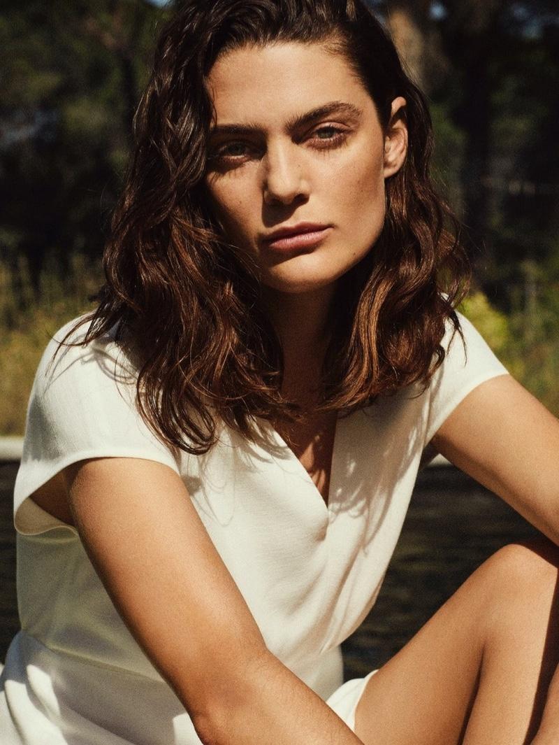 Marina Perez stars in Massimo Dutti Summer Pleasures editorial.