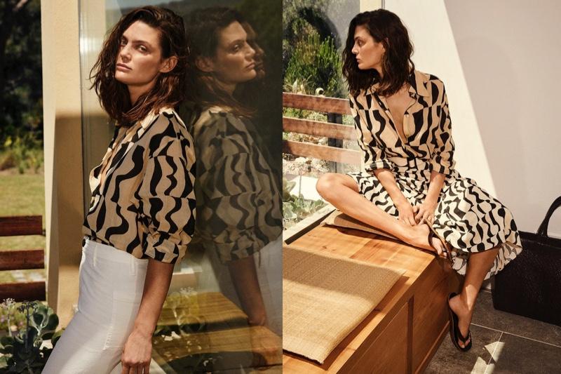 Marina Perez embraces prints in Massimo Dutti's Summer Pleasures editorial.