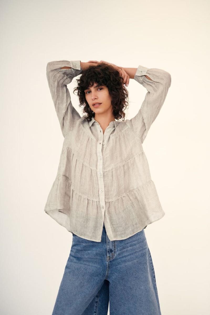 Zara Linen Shirt and Jeans.