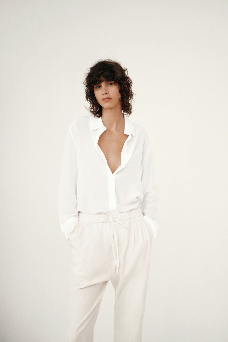 Zara features relaxed outfits in summer 2020 trend guide.