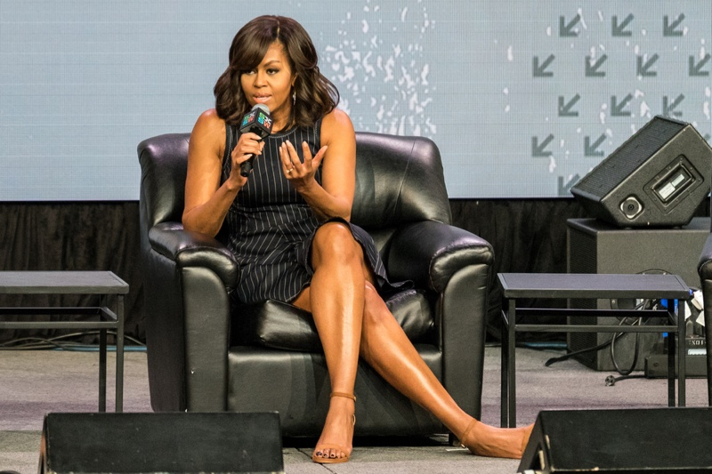 First Lady Michelle Obama speaks at the SXSW event Let Girls Learn