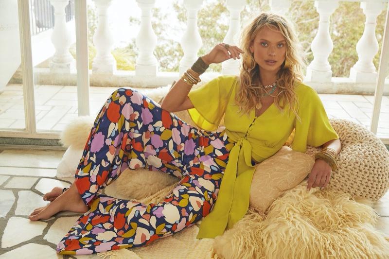 Victoria Germyn strikes a pose in Mister Zimi Casa summer 2020 campaign.