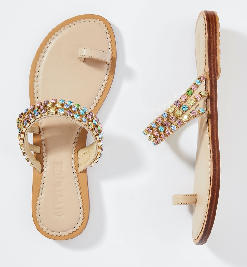 Mystique Lila Embellished Slide Sandals $218