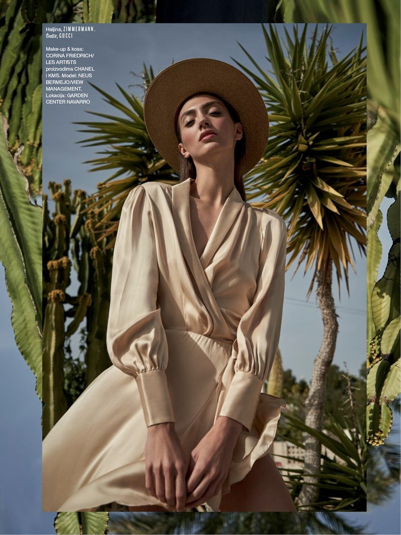 Neus Bermejo Wears Desert Style for ELLE Croatia