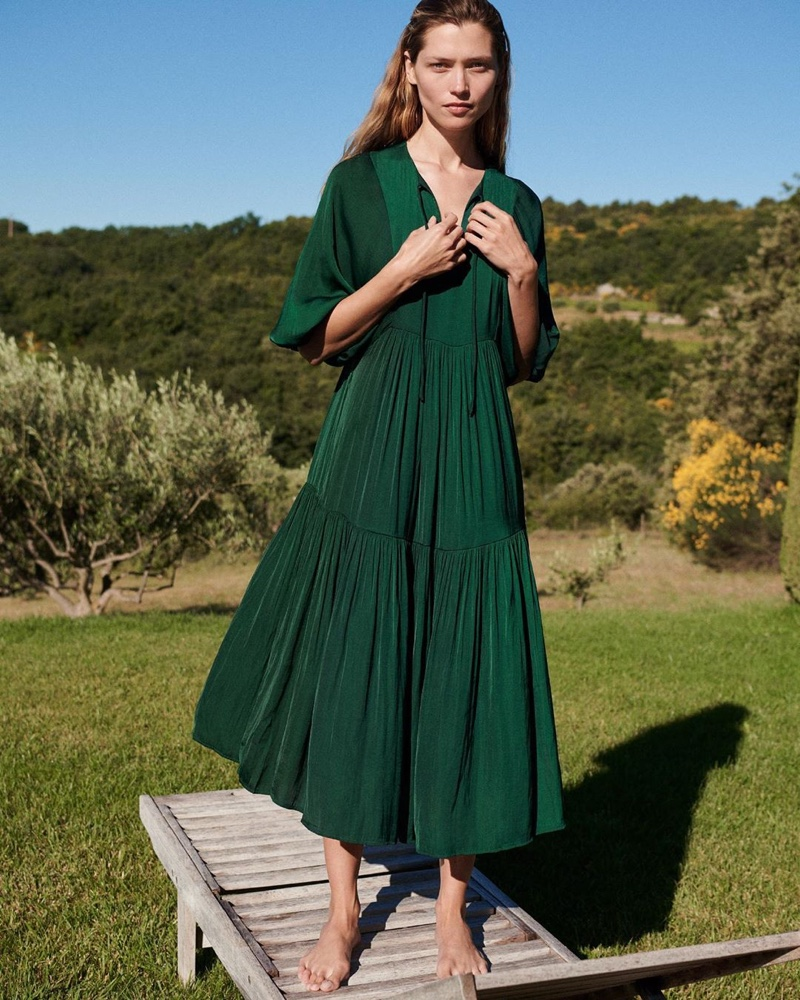 Hana Jirickova poses for Oysho summer 2020 collection.