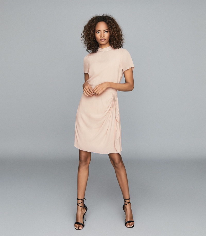 REISS Brooklyn Diamante Detail Dress $425