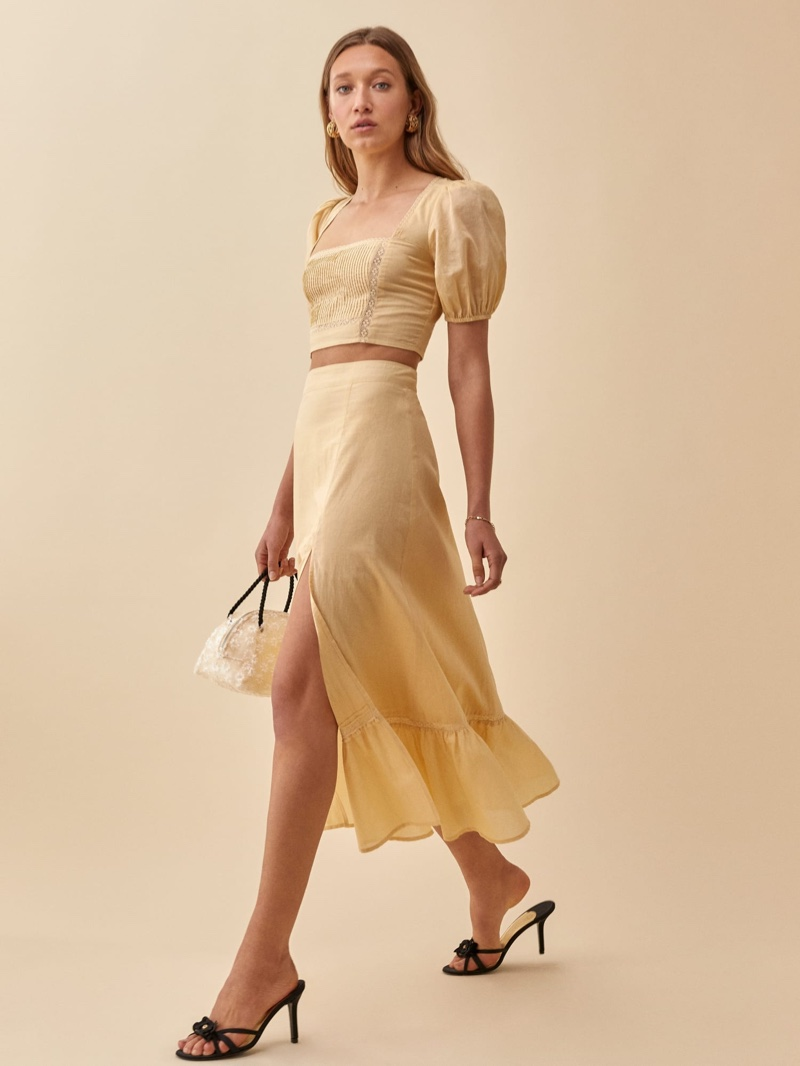 Reformation Cilantro Two Piece in Parmesan $298